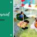 bac sensoriel pour enfants sur le thème de la rivière