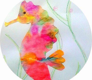 Bricolage pour enfants : fabriquer un hippocampe avec un filtre à café