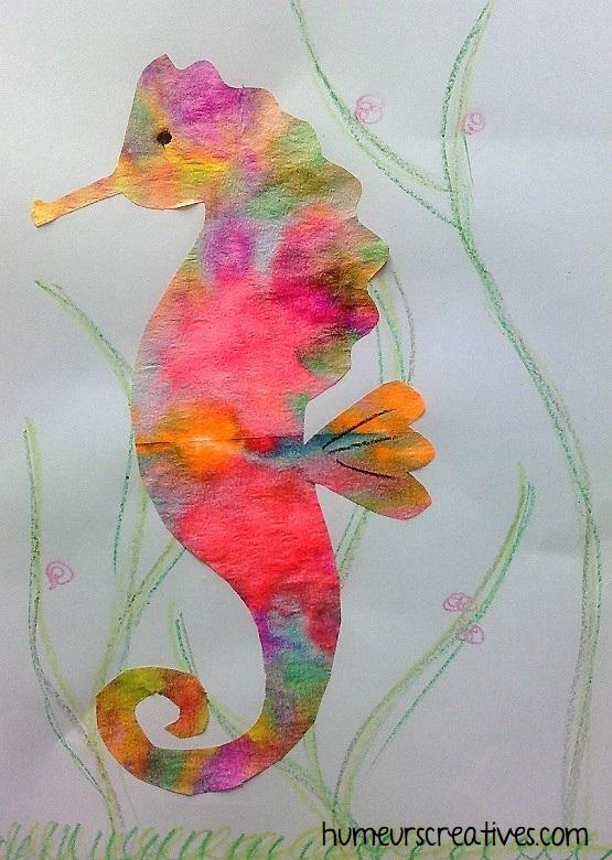 Notre joli hippocampe colorée