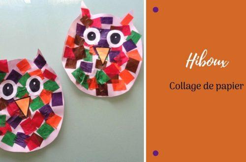 Bricolage pour enfant : des chouettes en papier, collage