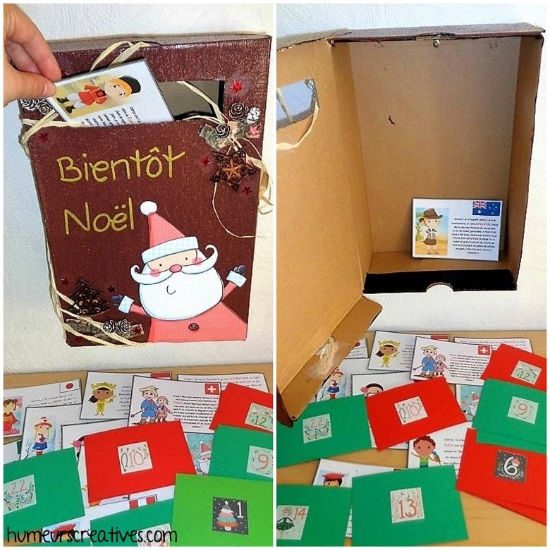 recevoir les cartes des enfants du Monde dans la boite aux lettres de l'avent