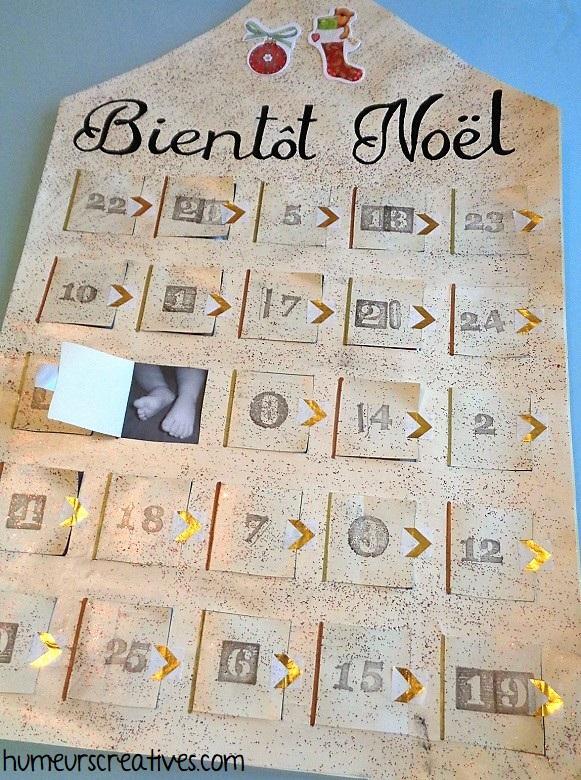 calendrier de l'avent photos spécial bébé