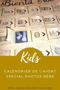 DIY calendrier de l'Avent photos spécial bébé