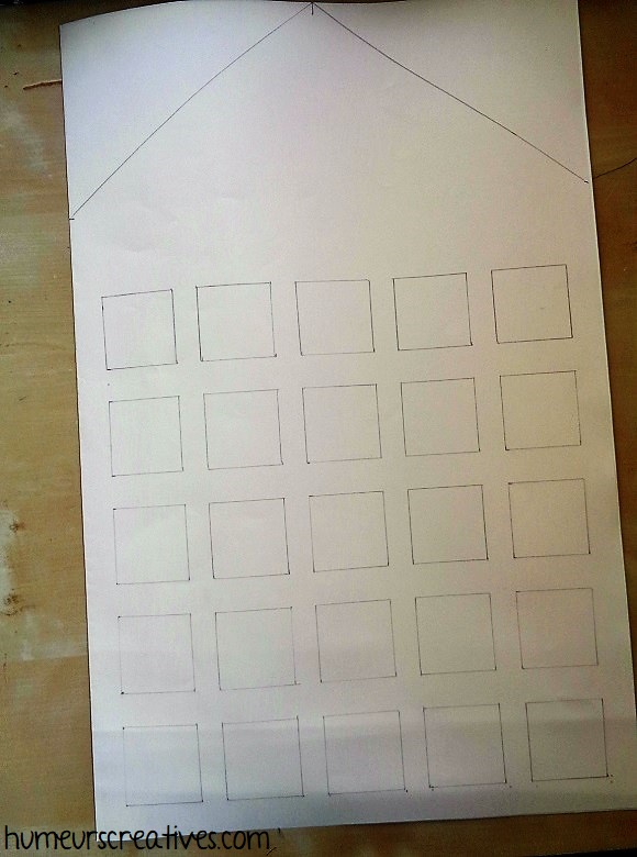 dessiner la forme du calendrier de l'avent photo