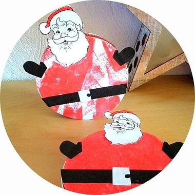 FAbriquer une boite Père Noël avec les enfants