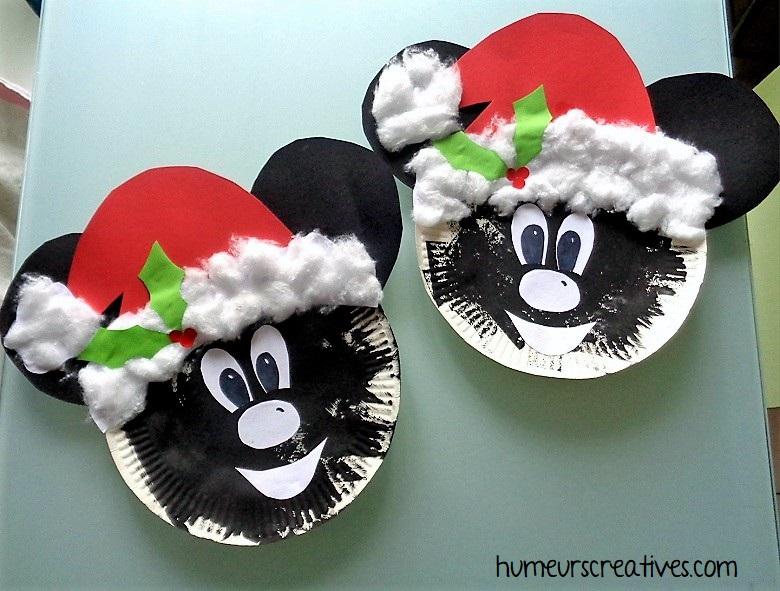 Mickey et Minnie fêtent Noël. Un bricolage pour les enfants en attendant Noël
