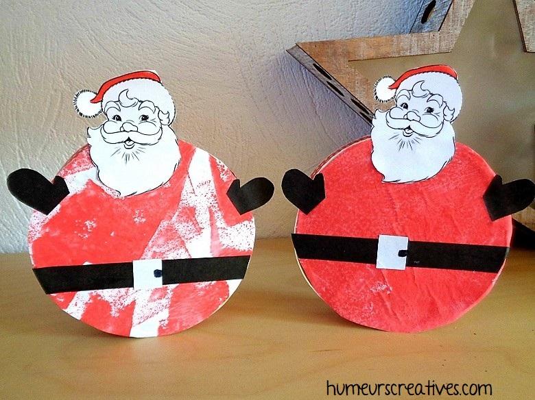 Nos Pères Noël réalisés avec les enfants