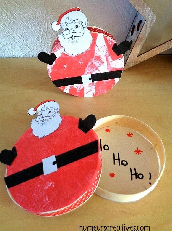 Boîtes décorés en Père Noël