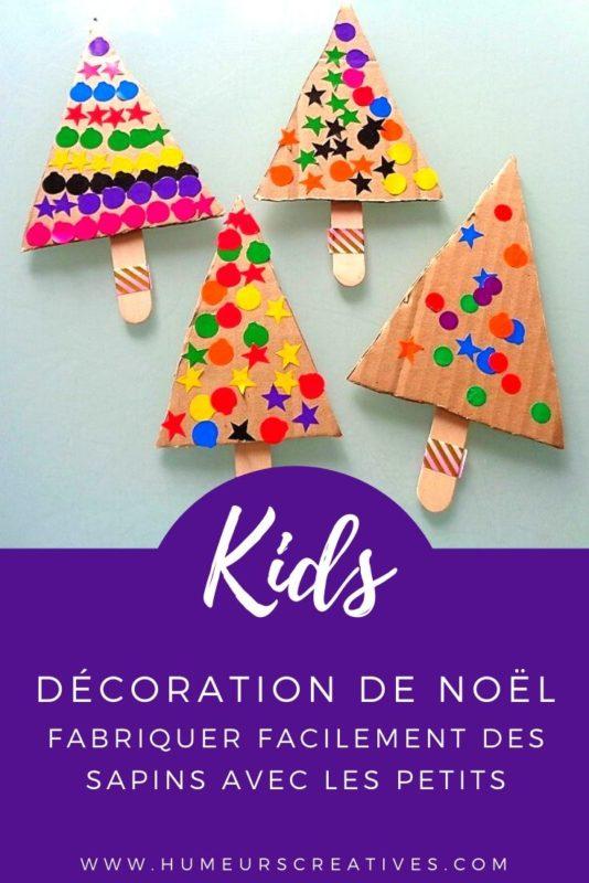 Bricolage de noël pour enfants : fabriquer un sapin en gommettes