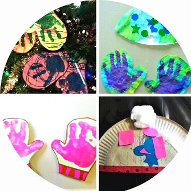 fabriquer des gants et bonnets avec les enfants, activités manuelles