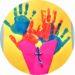 Carte bouquet de fleurs en empreintes de mains à faire avec les enfants