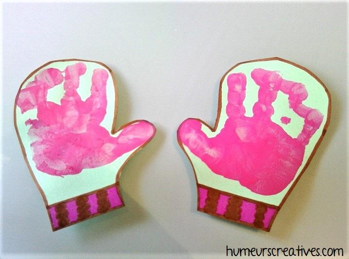 moufle en empreinte de mains