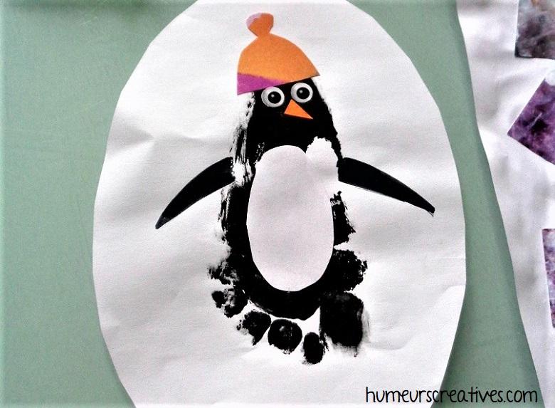 pingouin empreinte pied enfant