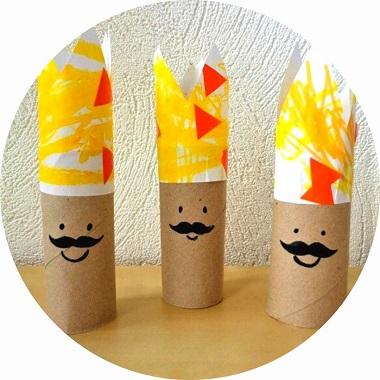 Activité manuelle pour l'Epiphanie : des rois en carton