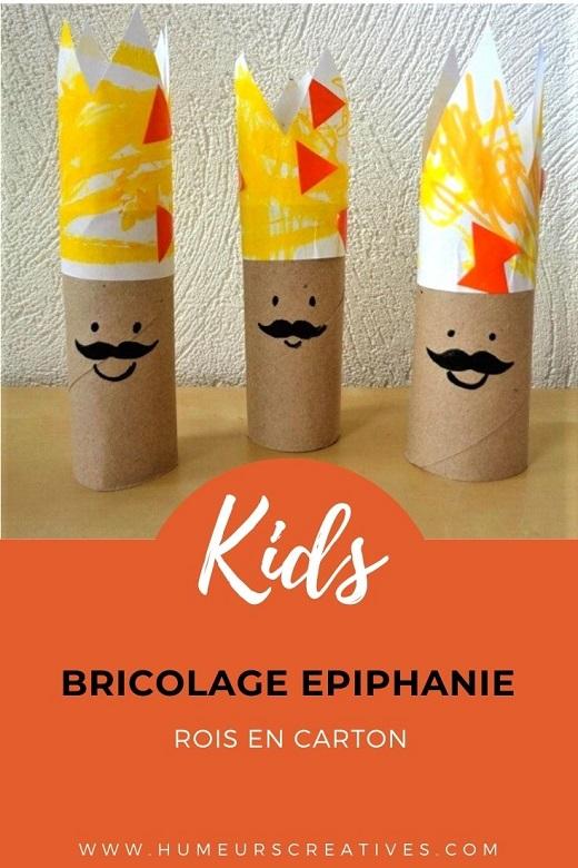 Bricolage pour l'Epiphanie : fabriquer des rois en carton avec les enfants