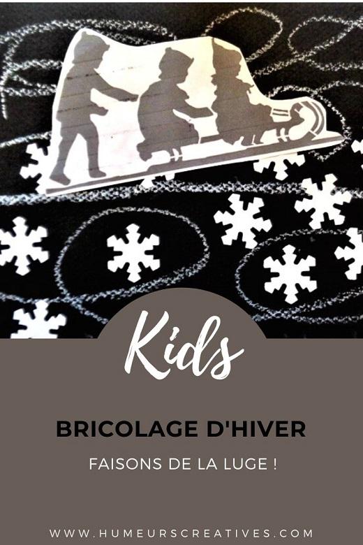 Bricolage d'hiver pour enfants : faire de la luge