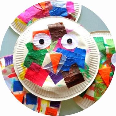 Bricolage pour enfant : réaliser un hibou avec une assiette en carton