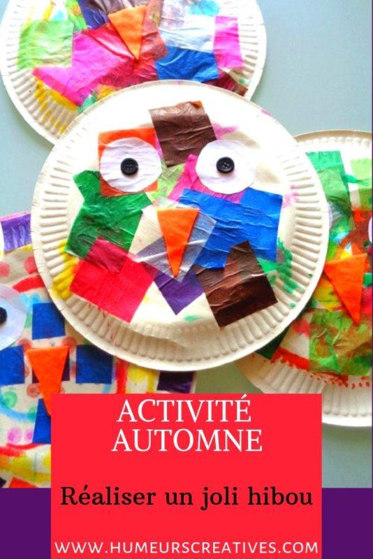 Bricolage pour enfant : réaliser des hiboux avec une assiette en carton