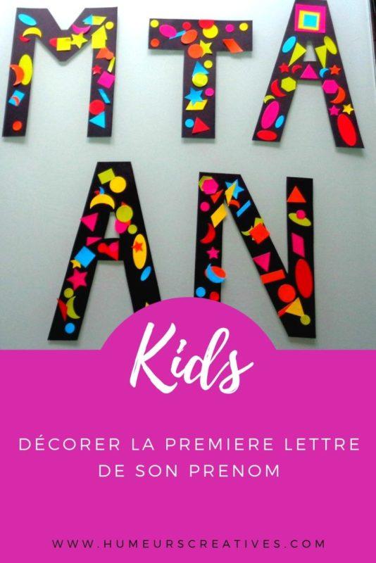 Bricolage enfant : décorer la première lettre de son prénom avec des gommettes
