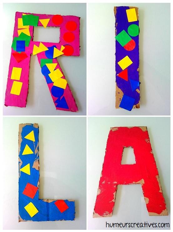 activité manuelle pour enfant : peindre la premiere lettre de son prénom