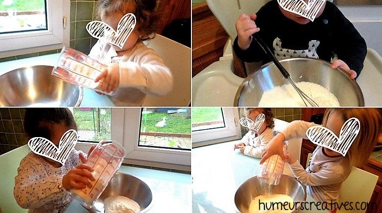 réalisation de notre pâte à crepes
