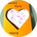 Une carte coeur fait maison pour la fete des mamies