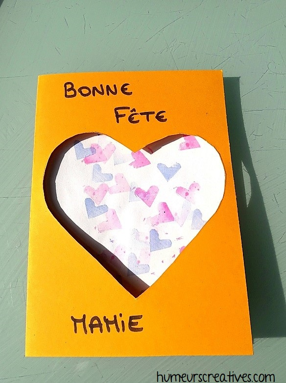 carte coeur pour la fete des mamies