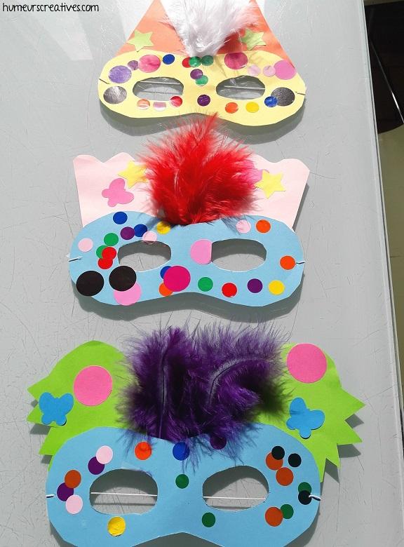 masque en papier à fabriquer avec des enfants