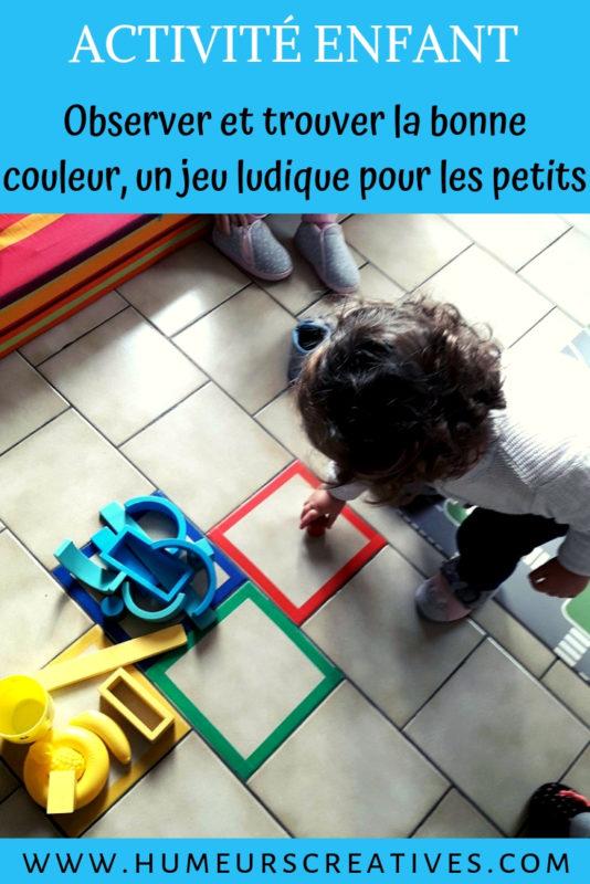jeu de couleurs facile pour les enfants