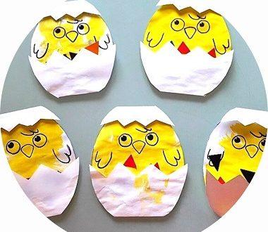Bricolage de Pâques pour enfants: réaliser un poussin