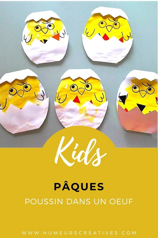 Bricolage de pâques pour enfants : réaliser un poussin