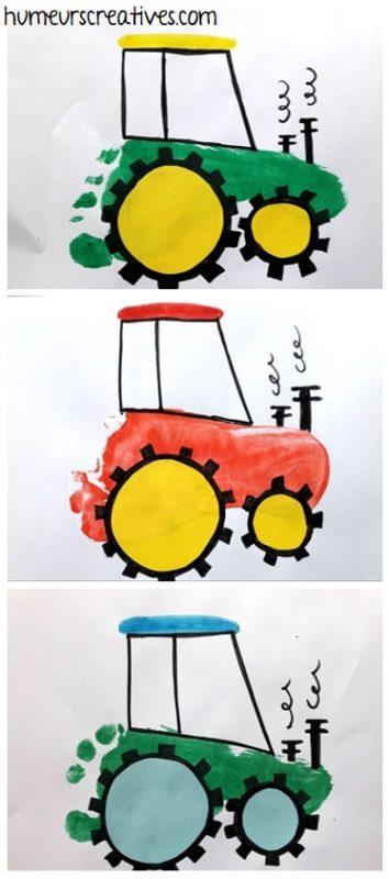 Nos tracteurs en empreintes de pieds