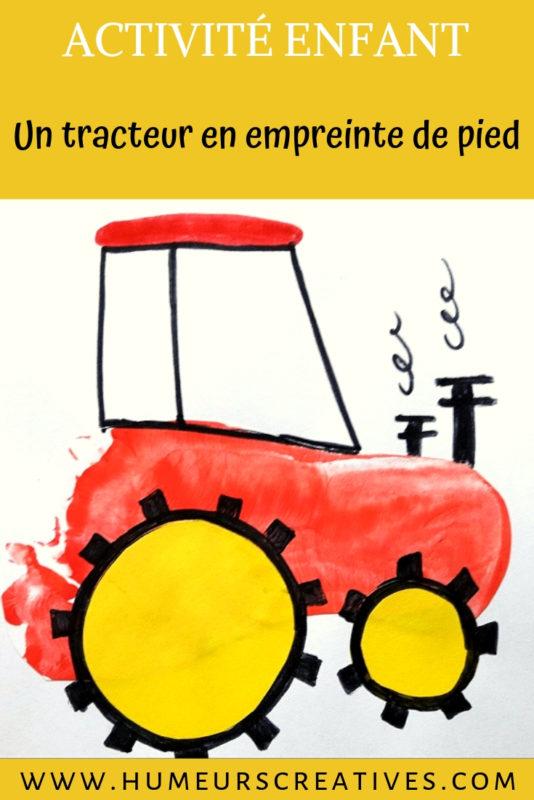 Bricolage pour enfant : un tracteur en empreinte de pied