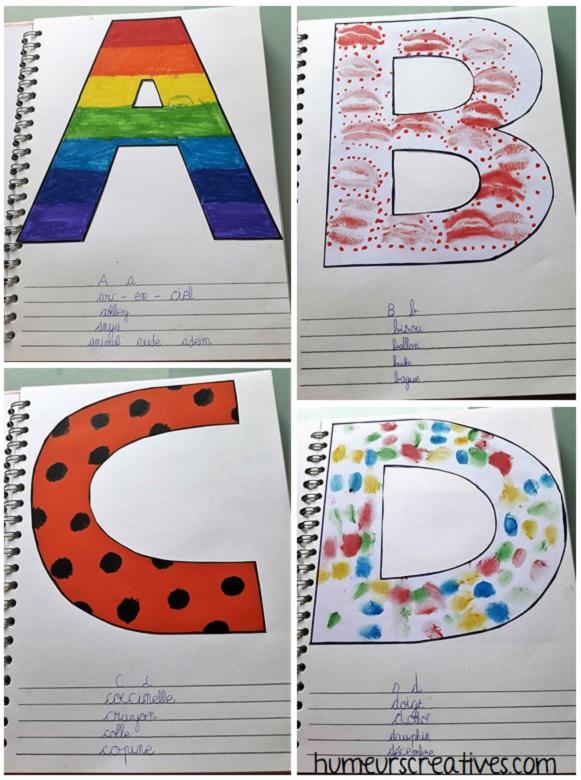 alphabet artistique a à d