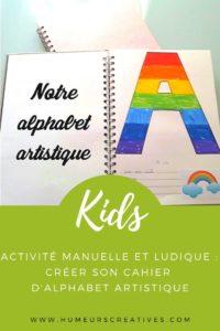 Fabriquer son alphabet artistique, une activité ludique et créative pour apprendre les lettres de l'alphabet aux enfants