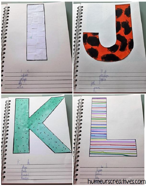 alphabet artistique i à l