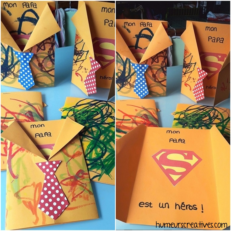 carte superman pour la fête des papas