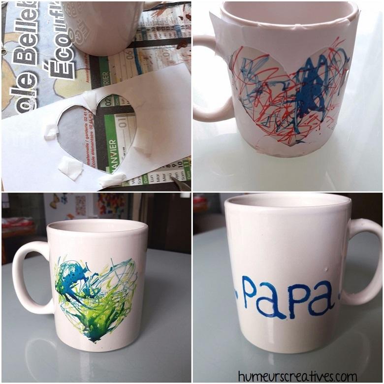 étapes de la décoration du mug