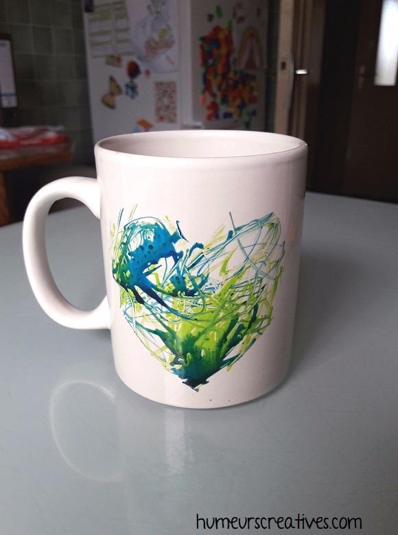 décoration du mug pour la fete des papas