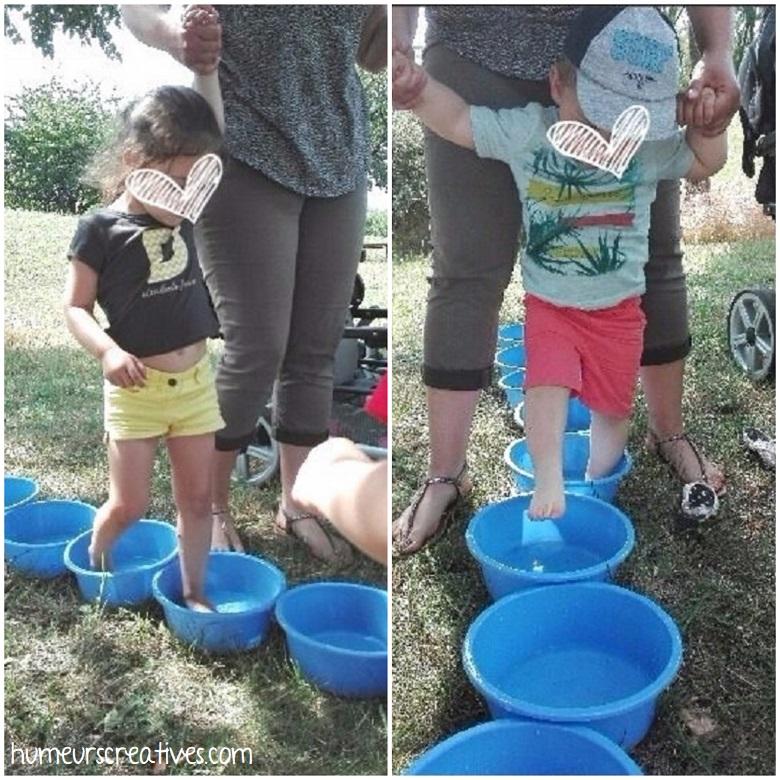 parcours d'eau pour les tout-petits