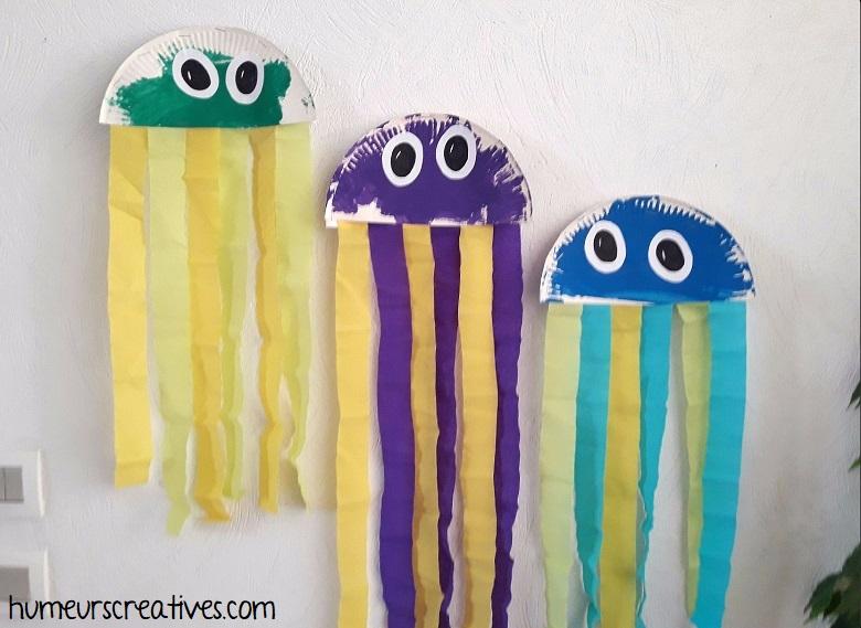 nos méduses suspendues au mur