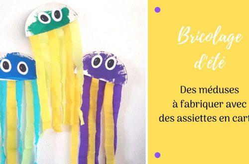 Bricolage d'été pour enfants: des méduses avec une assiette en carton