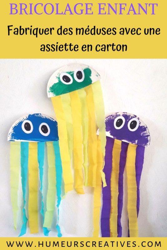 Bricolage pour enfants : fabriquer une méduse en assiette en carton