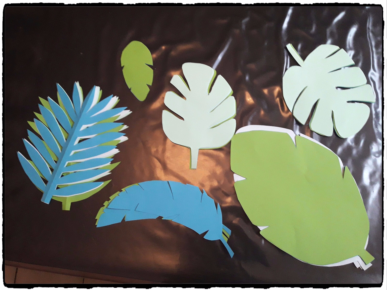 Anniversaire vaiana th me tropical 7 ans ashley mes humeurs cr atives - Decoration de feuille de papier ...