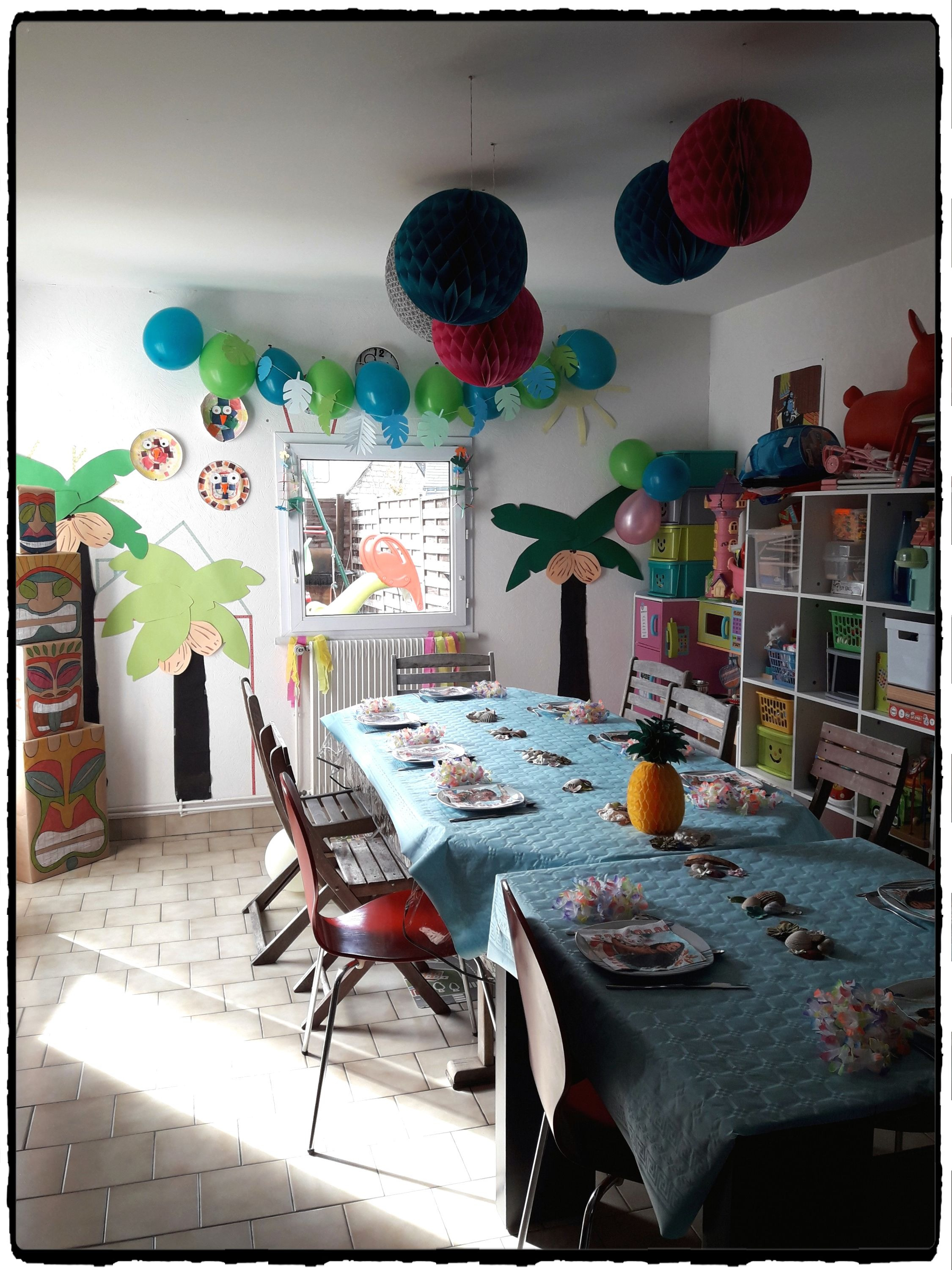 anniversaire vaiana th me tropical 7 ans ashley mes humeurs cr atives. Black Bedroom Furniture Sets. Home Design Ideas