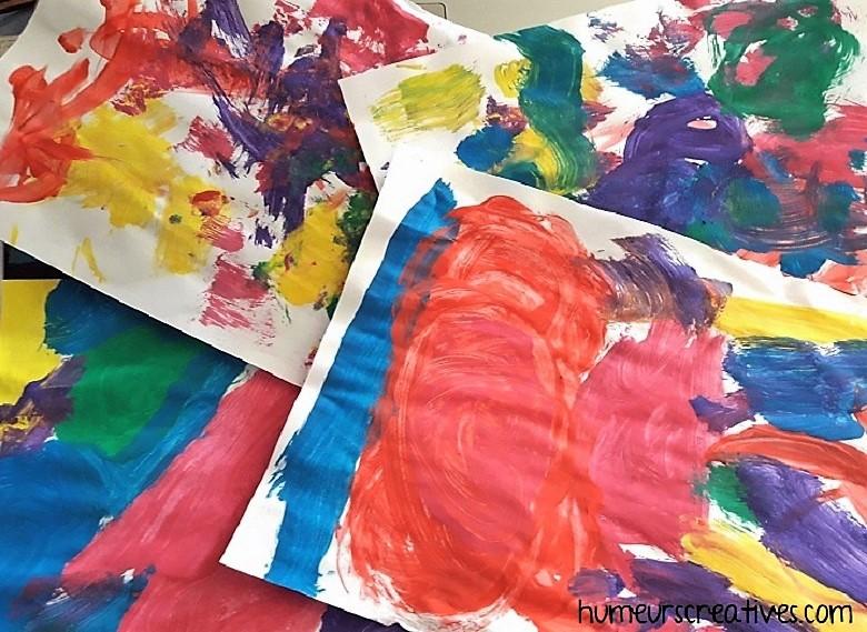 peintures libres des enfants