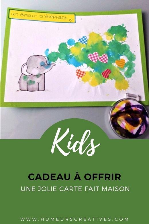 Une carte fait maison par les enfants pour offrir aux mamans