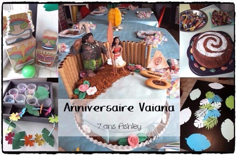 Anniversaire Vaiana (thème tropical) 7 ans Ashley