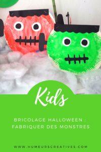 Bricolage d'halloween : fabriquer Frankestein avec une assiette en carton