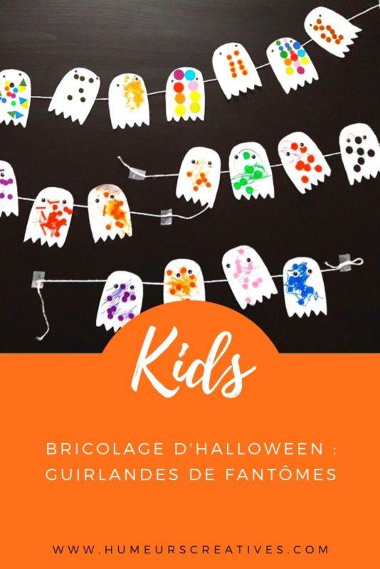 Bricolage d'halloween pour les enfants : fabriquer une guirlande de fantômes
